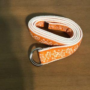 Floral orange belt